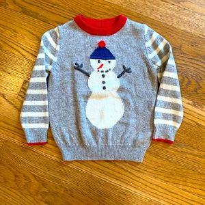 Mini Boden Snowman Sweater